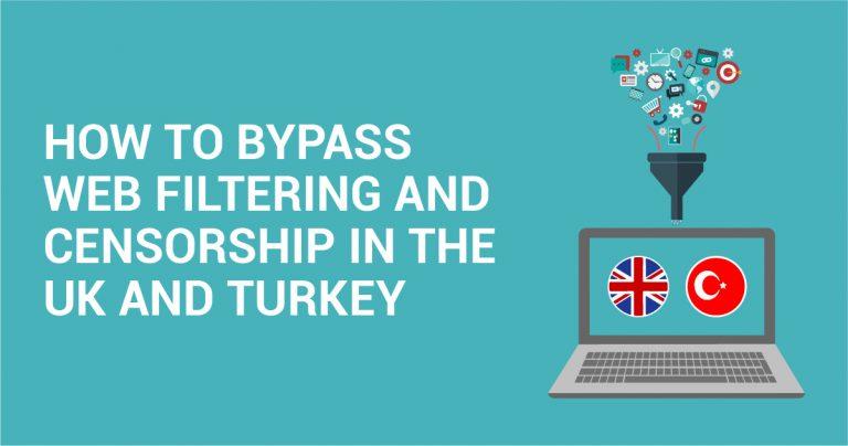 Как обойти контент-фильтр и цензурные ограничения в Великобритании и Турции